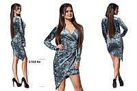 Платье из бархата 2-532 Ан Код:638364050
