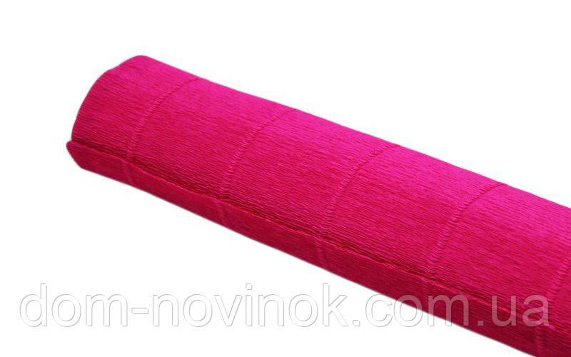 Гофрированная бумага яркий розовый