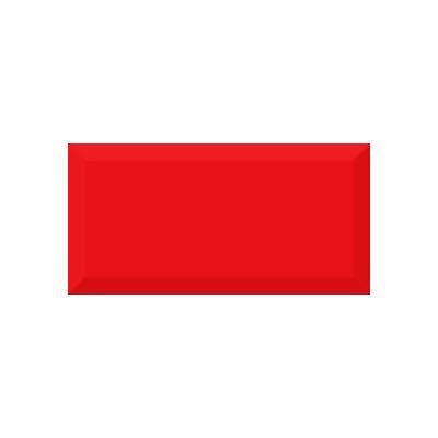 Керамическая плитка для кухни Absolut Monocolor Rojo Biselado Brillo Арт. 245620