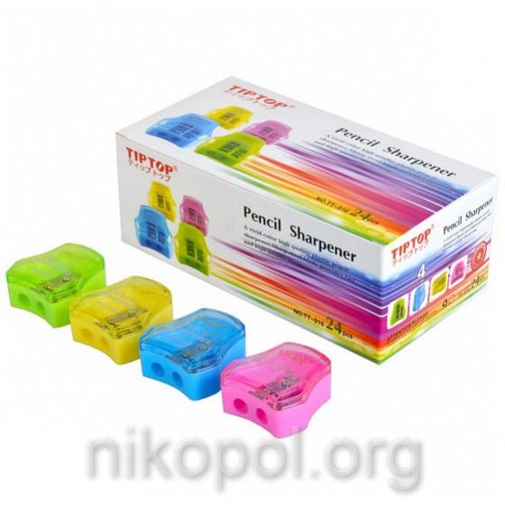Точилка пластиковая TIP TOP ТТ-916