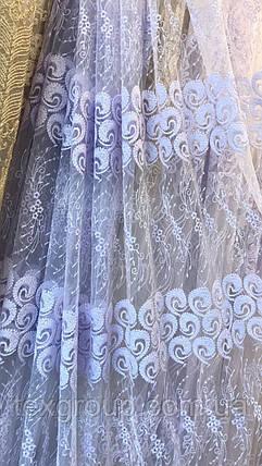 Гардина фатиновая Перья YON-42, фото 2