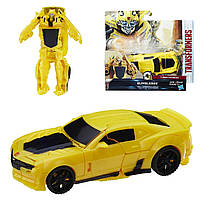 Трансформеры Хасбро последний рыцарь Бамблби C0884 The Last Knight 1-Step Turbo Changer Bumblebee