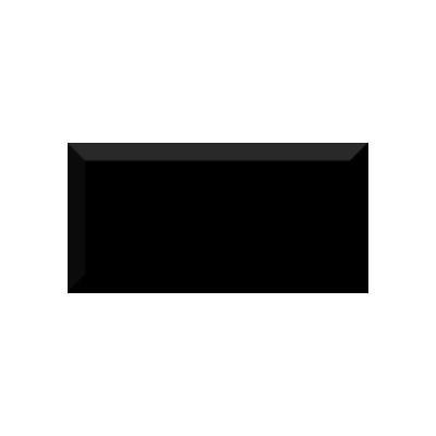 Керамическая плитка для кухни Absolut Monocolor Negro Biselado Brillo Арт. 246884