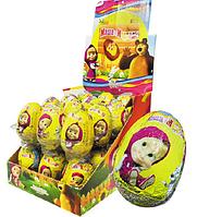 Шоколадное яйцо с игрушкой Маша и медведь 25гр х 24шт