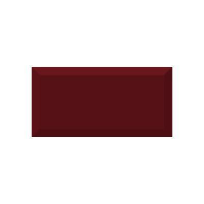 Керамическая плитка для кухни Absolut Monocolor Burdeos Biselado Brillo Арт. 245623