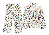 Пижама детская теплая 98-116