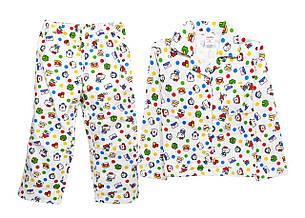 Пижама детская теплая 98-116, фото 2