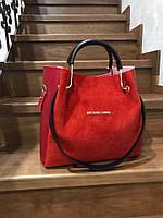 Замшевая сумка + клатч 27-1109 (ЮЛ)