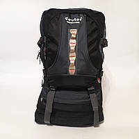 Туристический рюкзак Deuter с расширителем 40 - 50 л вместительный сине черный, фото 1