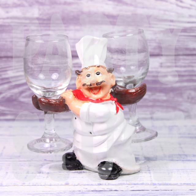 подставка для бокалов повар в красном