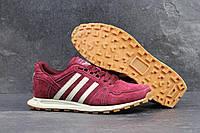 Мужские кроссовки Adidas Neo красные замшевые