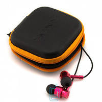 Наушники с микрофоном SONY 131 + квадратный чехол black-red Код:21319