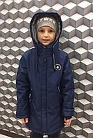 Куртка для мальчикаподростковаядемисезонная с 8 до 12лет,синего цвета, фото 1