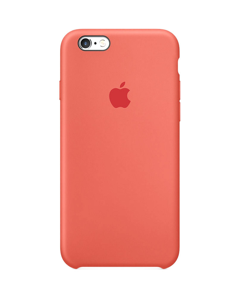 Силиконовый чехол для iPhone 7, 8 оранжевый
