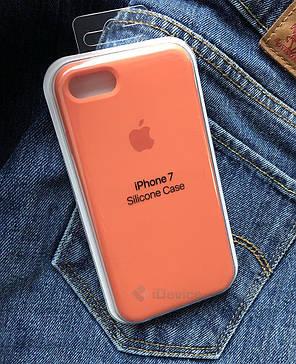 Силиконовый чехол для iPhone 7, 8 оранжевый, фото 2