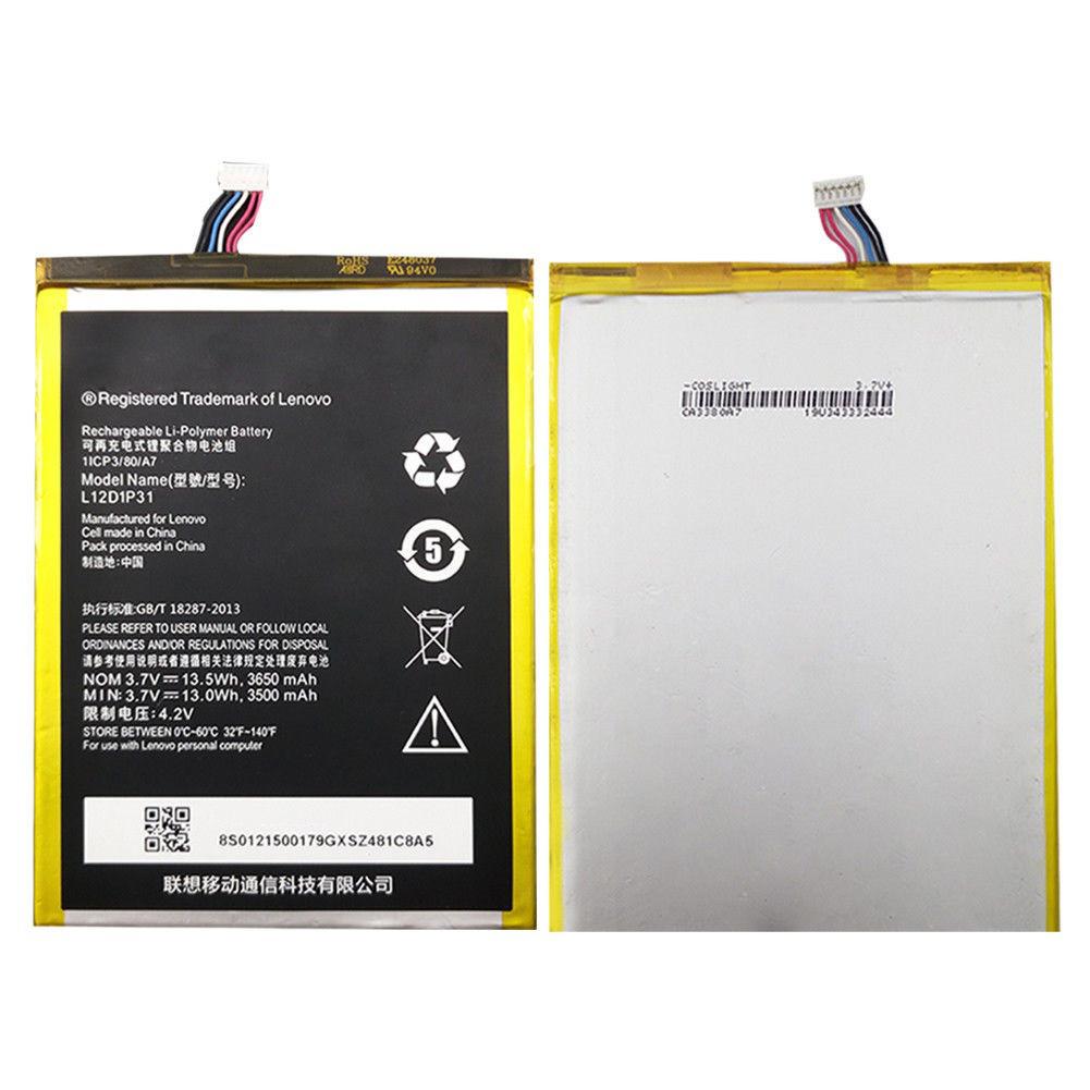 Аккумулятор (Батарея) Lenovo A1000 IdeaPad/A3000/A3300/A5000L12D1P31/L12T1P33(3650 mAh)