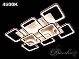 Прямоугольная светодиодная потолочная люстра MX2281/6+2WH dimmer, фото 3
