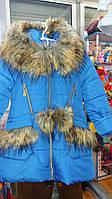 Тёплое зимнее пальто на девочку