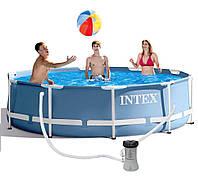 Каркасный бассейн Intex 28702 Prism Frame + фильтр насос 305x76 см