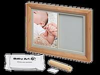 Набор для создания отпечатка ручки и ножки малыша Baby Art Настенная рамка Натуральная (3601093000)