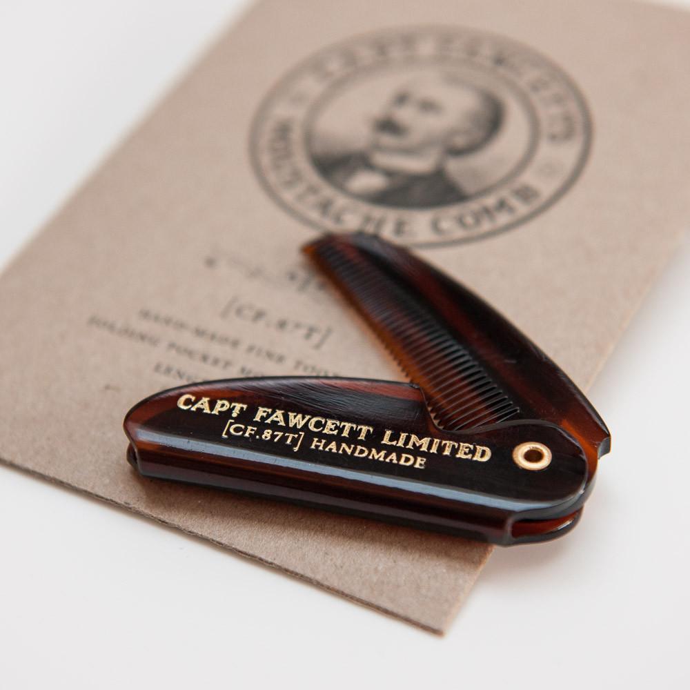 Складная карманная расческа для усов Captain Fawcett