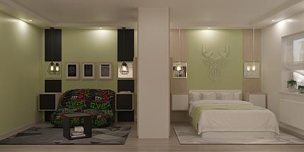 Дизайн подростковой Green 2, фото 2