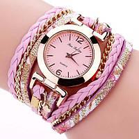 Женские часы браслет с розовым ремешком, фото 1