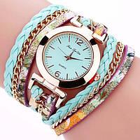 Женские часы браслет с бирюзовым ремешком