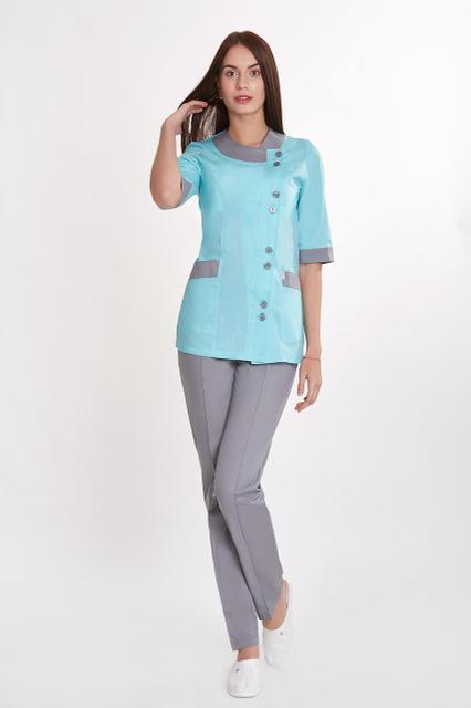 Жіночий медичний костюм, велика різноманітність кольорів, р. 40-60