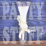 Свеча свадебная в бокале, 19,5 см