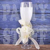 Свеча свадебная в бокале, 19 см
