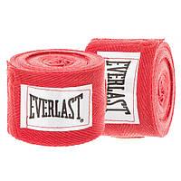 Бинты боксерские (2шт) хлопок с эластаном ELAST VL-0003 (4 м, красный)