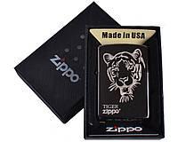 Зажигалка бензиновая Zippo (Тигр) в подарочной упаковке №4733-2