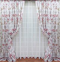 Шторный набор Сюзанна Красный + тюль, фото 2