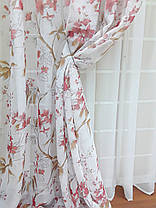 Шторный набор Сюзанна Красный + тюль, фото 3