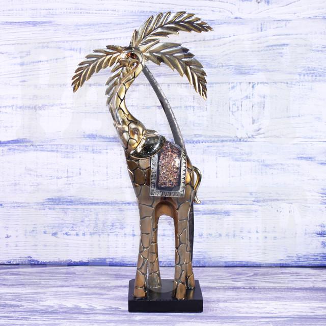 статуэтка слон с пальмой