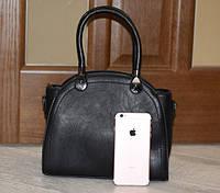 Красивая стильная женская черная сумка с ручками, новая модель 2019 года.