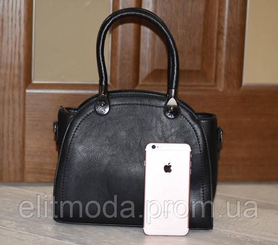7695ad995872 Красивая стильная женская черная сумка с ручками, новая модель 2019 года.