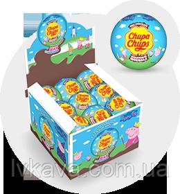 Шоколадный шар Свинка Пеппа Chupa Chups с сюрпризом , 20 g X 18 шт, фото 2
