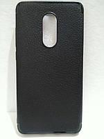 Чехол силиконовый для Xiaomi Redmi Note 4x черный, фото 1