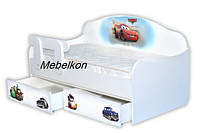 Кроватка диванчик Тачки1