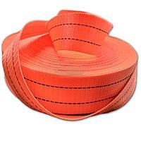 Тесьма полиэстеровая 50 мм х 50 метров 5 тонн - лента для стяжных ремней