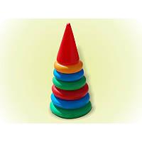 Пирамидка №1 25см. 6 колец арт.017, развивающая игрушка, пирамидка детская