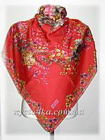 Натуральный платок Сюзанна, красный