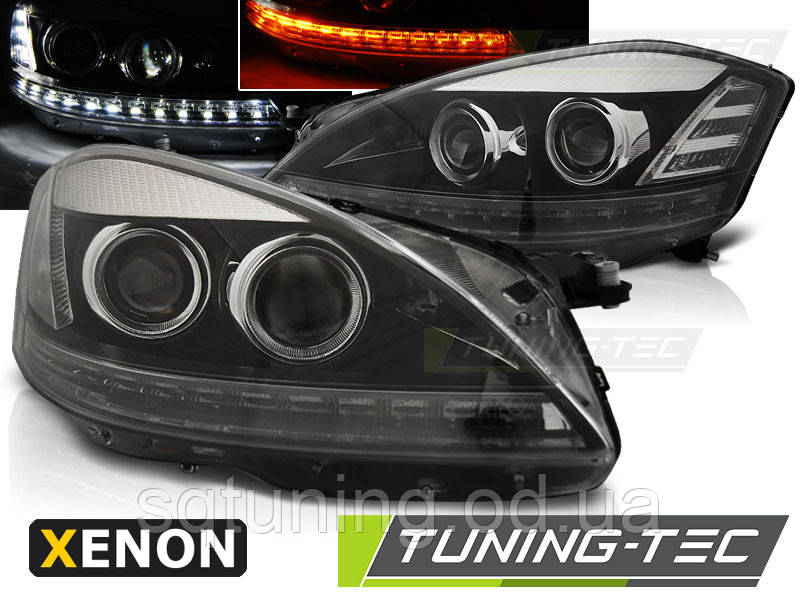 Фары MERCEDES W221 05-09 DAYLIGHT HID BLACK