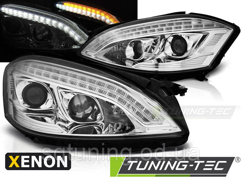 Фары MERCEDES W221 05-09 DAYLIGHT HID CHROME