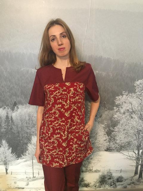 Женский медицинский костюм Фиалка х-б, большое разнообразие цветов, р.42-60