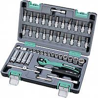 """Набір інструментів Stels 47 предметів 1/4"""", CrV, пластиковий кейс  ( 14099 )"""