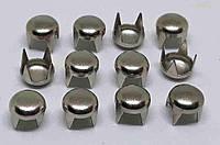 Декоративные крабик 5,5 мм ( никель )