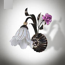 Бра в стиле флористика с розой в спальню, зал, на кухню  15601-2
